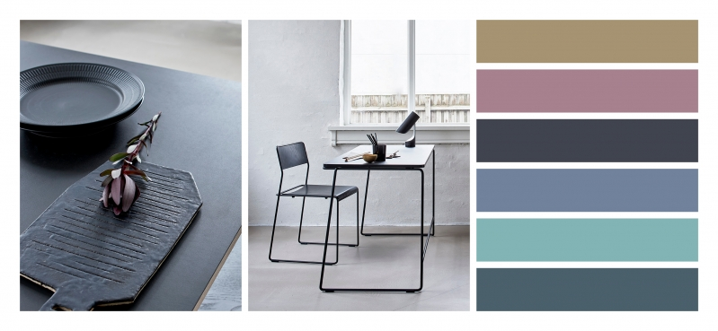 Scandi noir - bleu, rouge, vert - perfect colour matching for your designer radiators